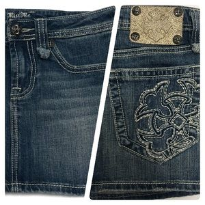 Miss Me Denim Mini Skirt